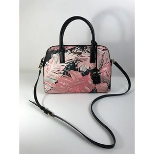 Kate Spade Rachelle Feathers Pink & Black Satchel/Crossbody